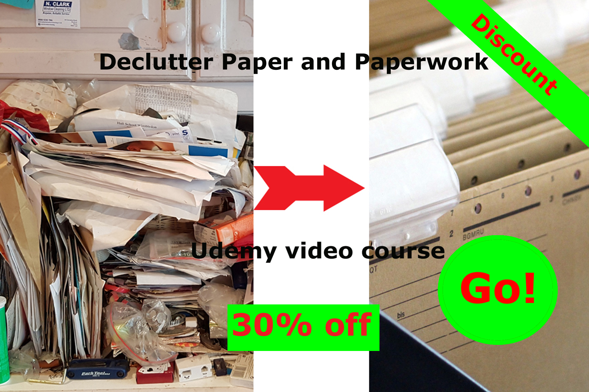 Click here for 30% off Declutter Paper and Paperwork video course