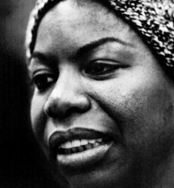 Black and white close-up of Nina Simone's face to illustrate a post about new year's resolutions