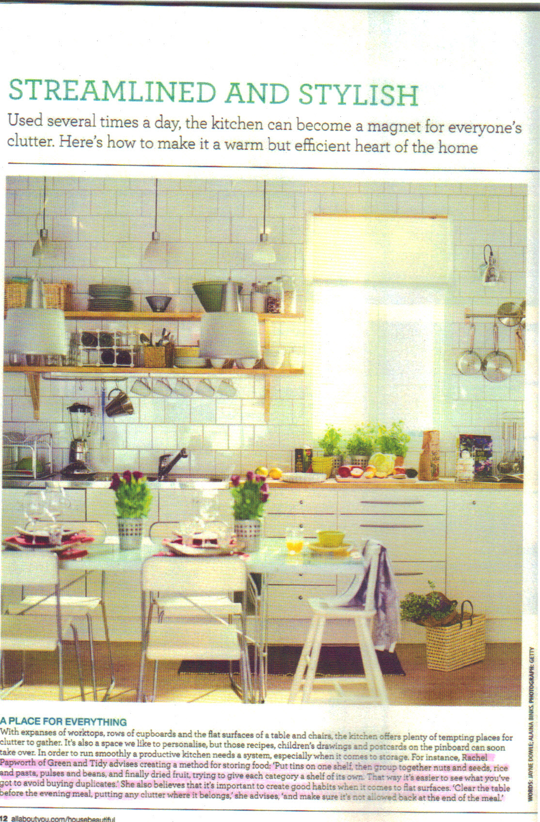 House Beautiful Feb 2013 p12 -  highlight