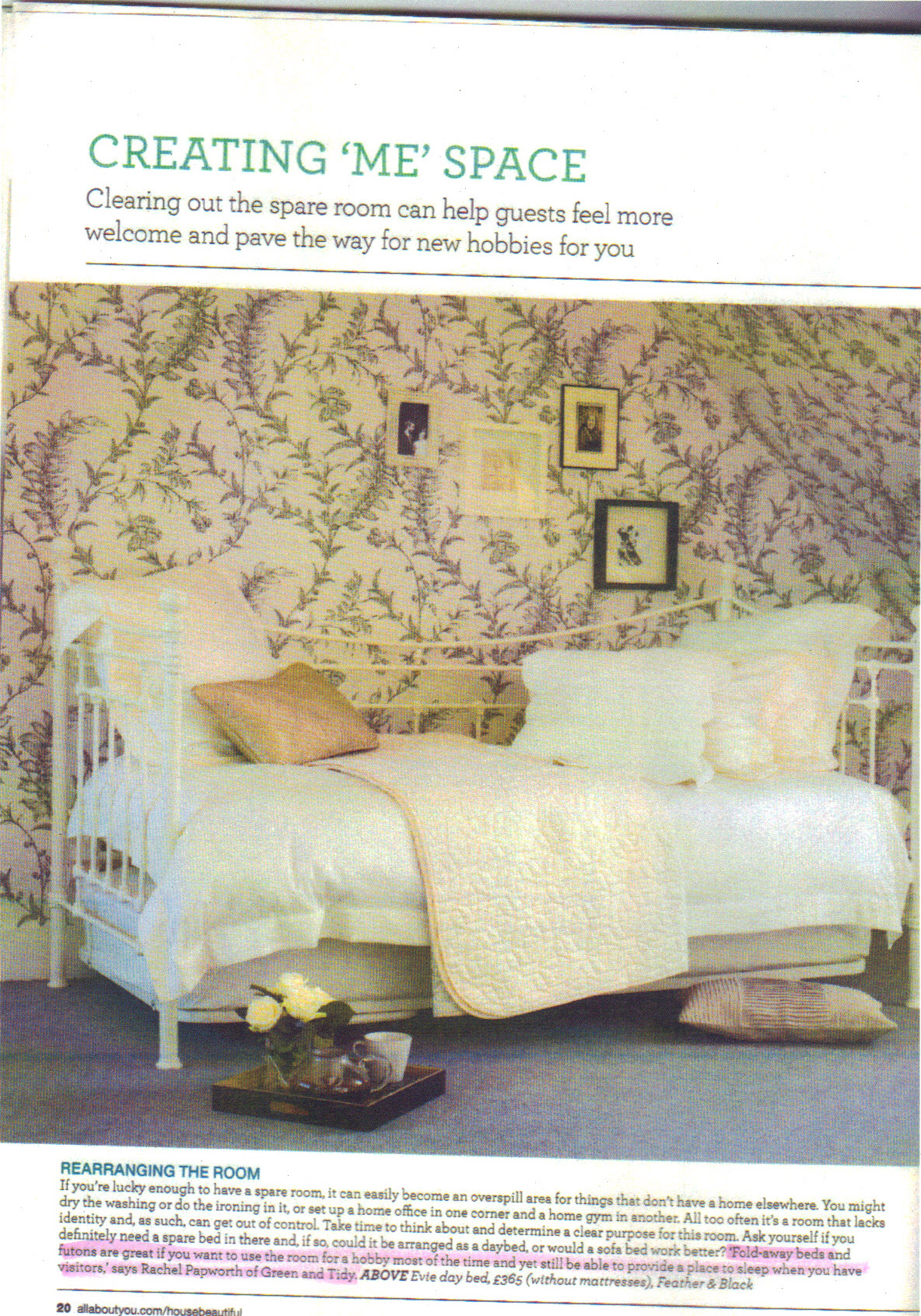 House Beautiful Feb 2013 p20 -  highlight