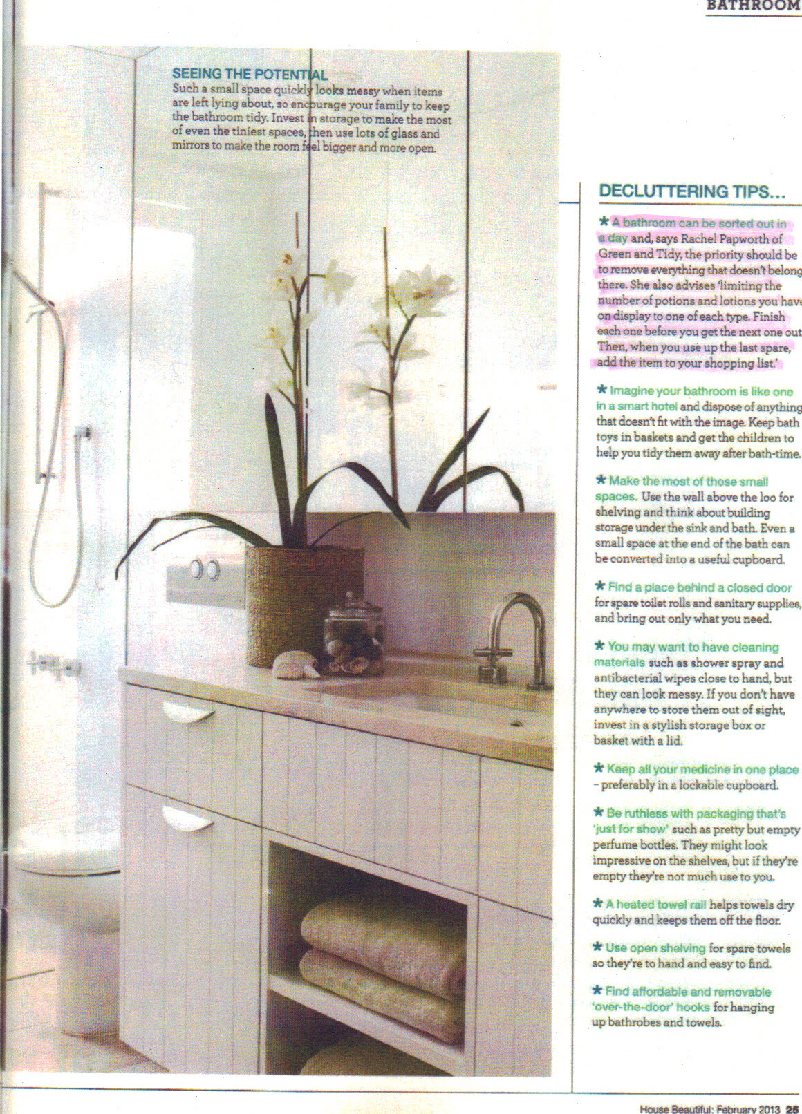 House Beautiful Feb 2013 p25 -  highlight