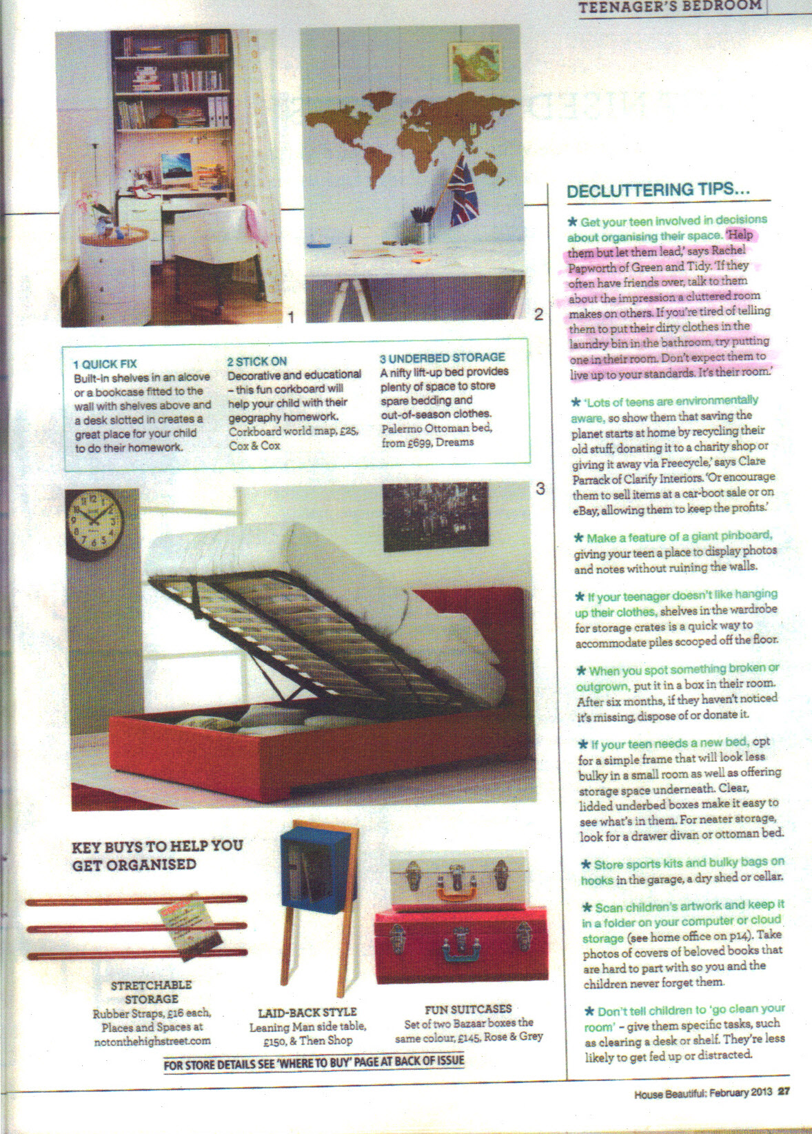 House Beautiful Feb 2013 p27 -  highlight