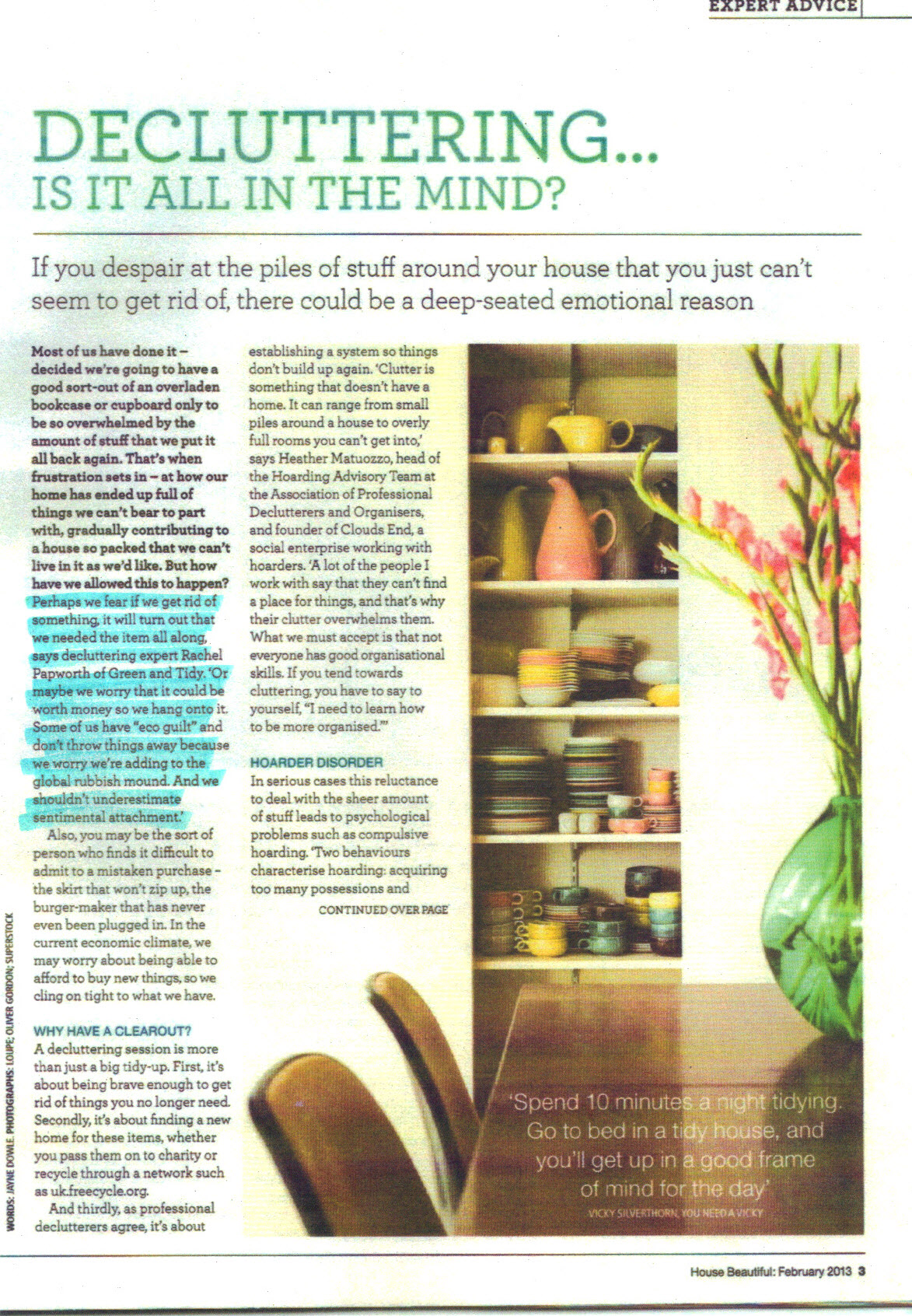 House Beautiful Feb 2013 p3 -  highlight