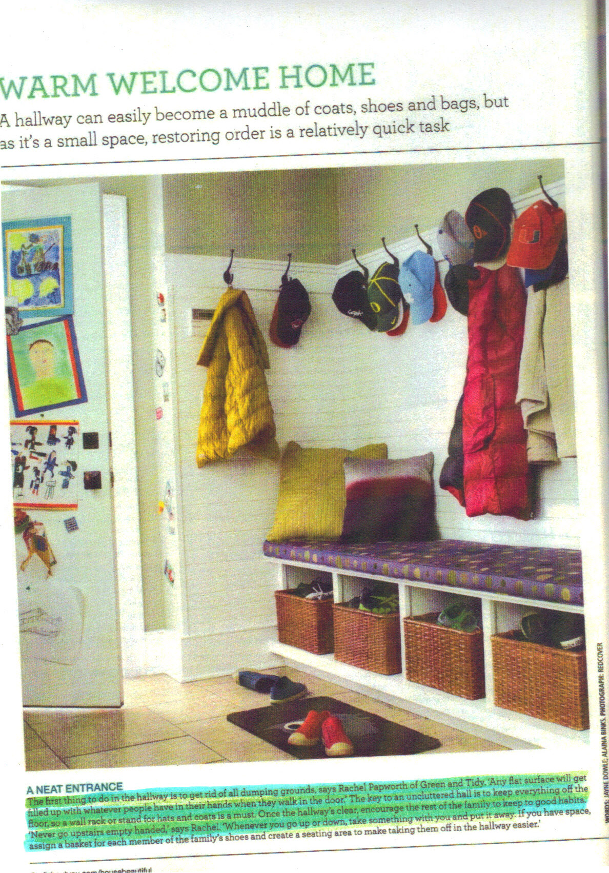 House Beautiful Feb 2013 p6 -  highlight
