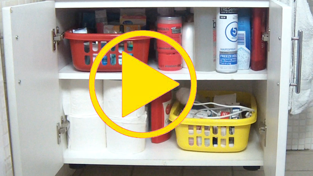 organised bathroom cabinet video